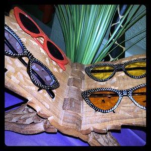 Accessories - Rhinestone Cateye Sunglasses